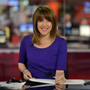 HOME PRIDE: Annita McVeigh at the BBC newsdesk in London