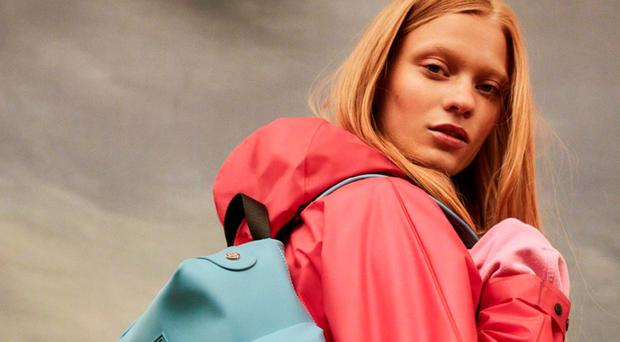 Practical solution: above, the packable smock, £145 from Hunter