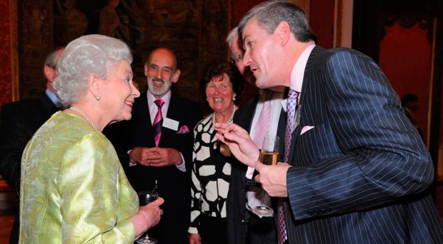 The Queen with with David Anderson at Hillsborough Castle