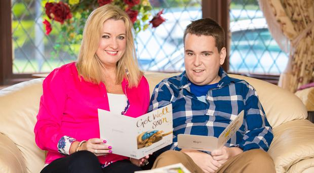 Jo-Anne Dobson at home with her son Mark
