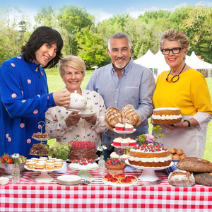 New look: the Great British Bake Off team, (from left) Noel Fielding, Sandi Toksvig, Paul Hollywood and Prue Leith