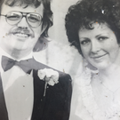 Paul and Geraldine Hopkins on their wedding day