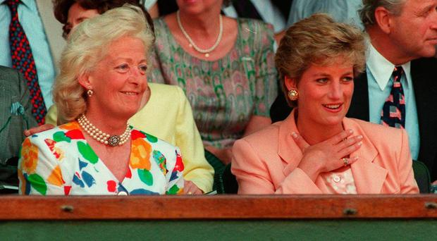 Diana, Princess of Wales and her mother Frances Shand Kydd