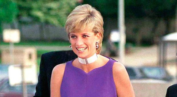 Diana dazzling in an evening dress