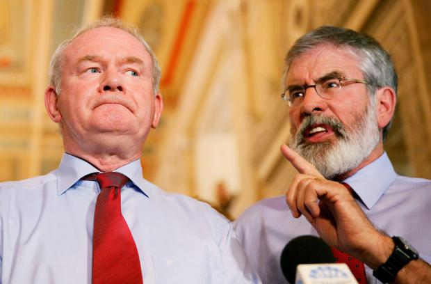 Political allies: with the late Deputy First Minister Martin McGuinness