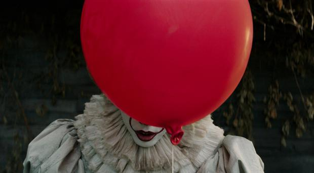 Facing fear: Bill Skarsgard as Pennywise the clown in It
