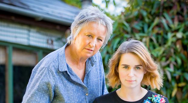 Family connection: Jane Coyle with actress daughter Hannah, who is appearing in her mother's play