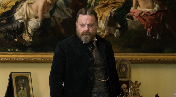 Weighty subject: Eddie Izzard put on 26lb to play Bertie, Prince of Wales, in Victoria & Abdul