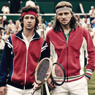 Net gains: Shia LaBeouf as John McEnroe and Sverrir Gudnason as Bjorn Borg
