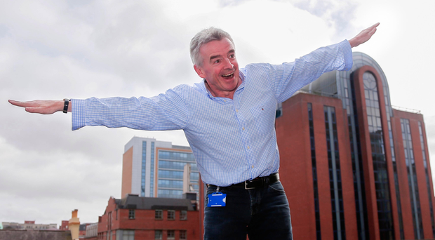 Winging it: Michael O'Leary has been under fire again this week from Ryanair staff and customers