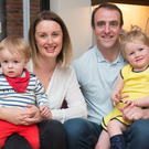 Mark H Durkan with wife Anne, son Ferdia and daughter Lily