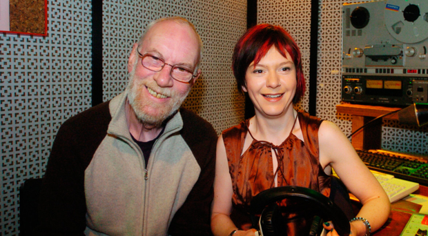 Jackie Flavelle with his daughter Lisa who is also a radio presenter