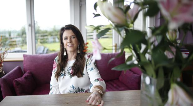 Positive outlook: Amanda Rafferty relaxing at home