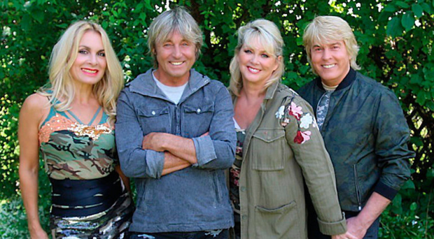 Back to future: The Fizz band members (from left) Jay Aston, Bobby McVay, Cheryl Baker, Mike Nolan