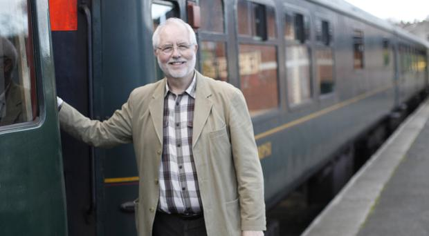 Rev Canon John McKegney, chairman of the Railway Society, at Whitehead Railway Museum