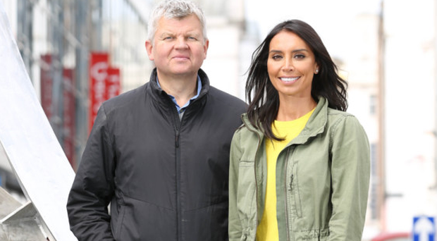 Christine Lampard and Adrian Chiles in Belfast