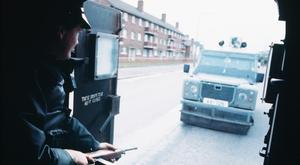 Dark days: an RUC patrol on the dangerous streets of Northern Ireland during the Troubles