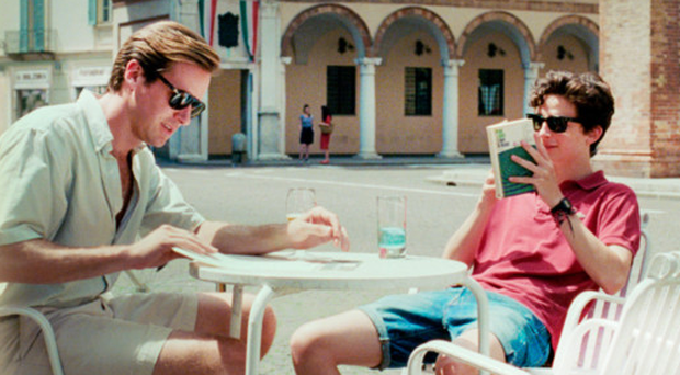 Close bond: Armie Hammer (left) as Oliver and Timothee Chalamet as Elio