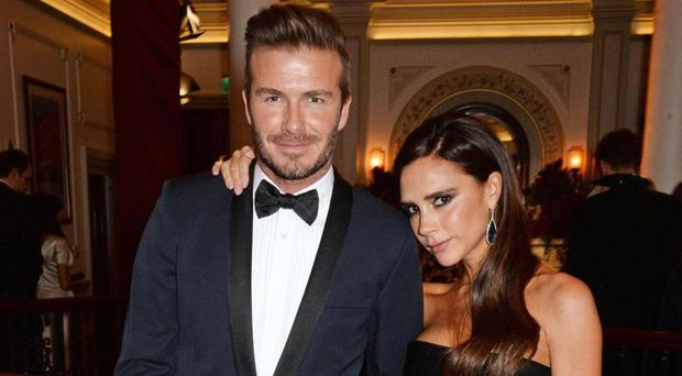 Golden couple: David Beckham with wife Victoria