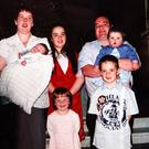 A 2007 photograph of Lorraine McGovern and Arthur McElhill, with (from left) baby James (10 months), Bellina (4), Caroline (13), Sean (7) and Clodagh (one and a half)