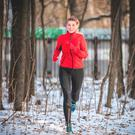 Wrapped up: jogging can still be enjoyable in the cold weather if you are well prepared