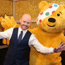 BBC Northern Ireland's Barra Best with Pudsey Bear launching this year's Children in Need appeal