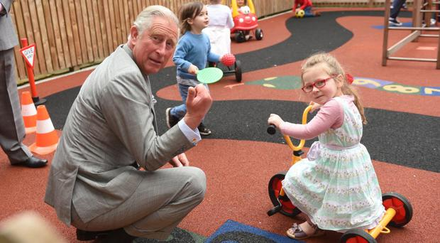 Royal ally: HRH Prince Charles on a visit to the East Belfast Network whose premises are located in the former Templemore Avenue Primary School