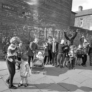 Children playing in the streets in Belfast