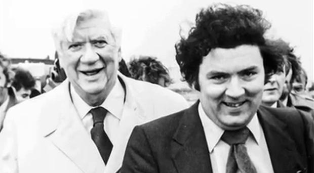 Skilled politician: former SDLP leader John Hume (right), with Tip O'Neill during his visit to America
