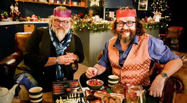 Festive fun: Simon King and Dave Myers are back on our television screens