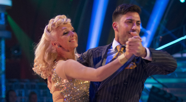 Debbie McGee with Giovanni Pernice