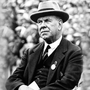 Willie Maley keeps a watchful eye over his Celtic side from the dugout at Parkhead