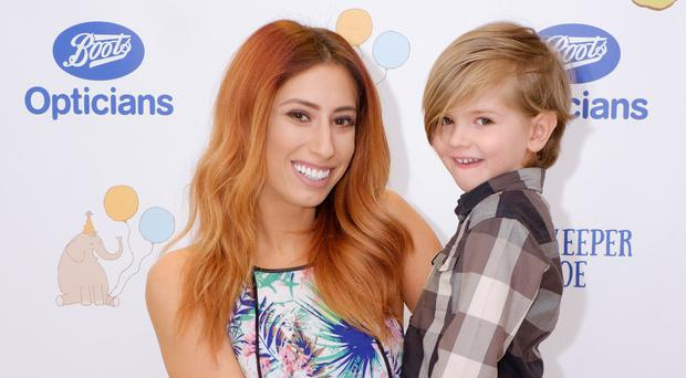 Mother's pride: Stacey Solomon with her youngest son Leighton