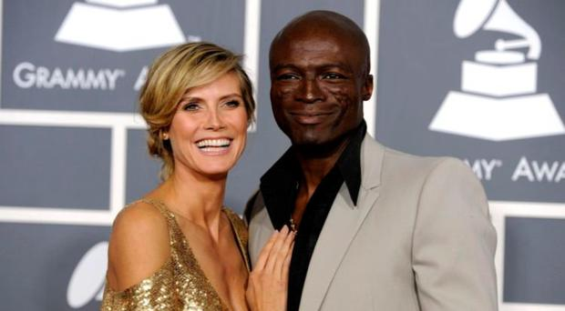 Seal with his ex-wife Heidi Klum