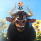 Animal magic: Ferdinand, voiced by John Cena, and Lupe, voiced by Kate McKinnon