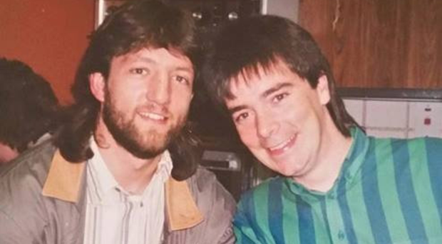 Close bonds: best friends Davy Smyth and John Laverty in their younger days