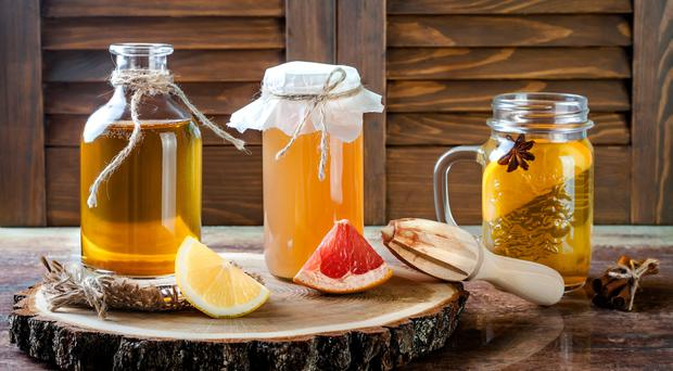 Healthy measure: homemade fermented raw kombucha tea