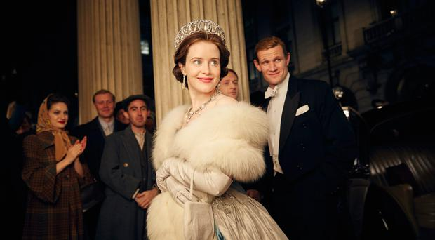 Regal tale: Claire Foy as the Queen and Matt Smith as the Duke