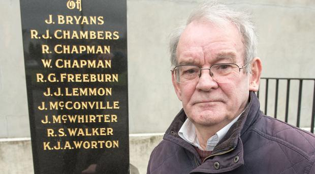 Kingsmill survivor Alan Black at the memorial to his colleagues who where murdered
