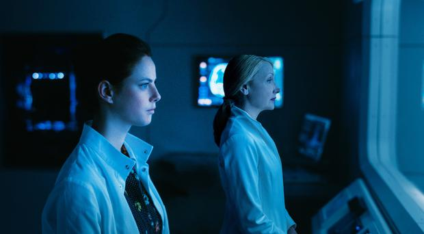 Epic finish: Kaya Scodelario and Patricia Clarkson in The Maze Runner
