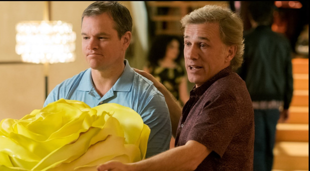 Small time: Matt Damon and Christoph Waltz in Downsizing