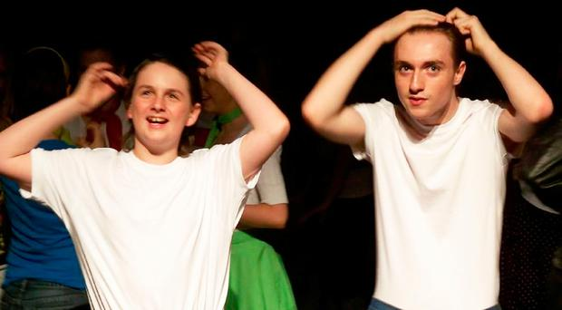 A younger Sam Smith (right) in Oh Carol as part of Youth Music Theatre