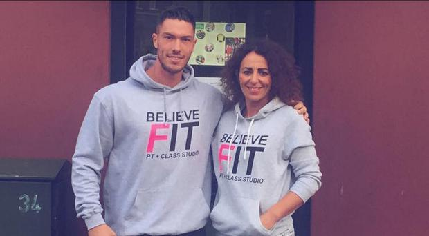 Adam Maxted with his mum Belinda