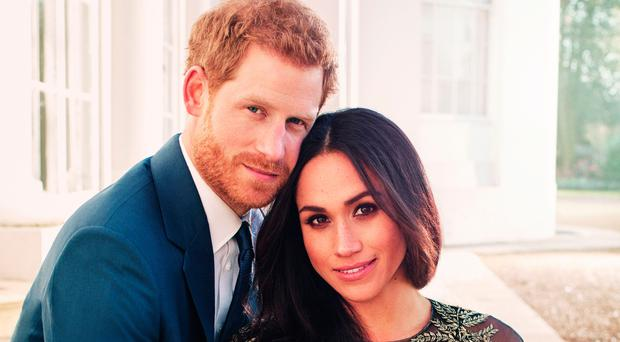 The official engagement photograph of Prince Harry and Meghan Markle