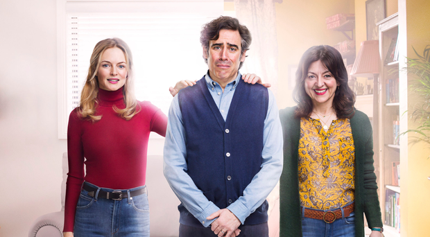 Three's a crowd: Heather Graham, Stephen Mangan and Jo Hartley in Bliss