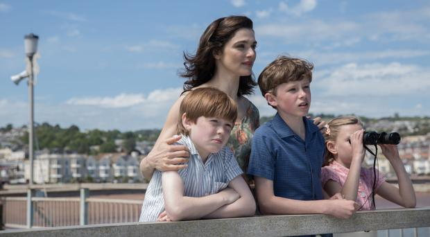 Family flaws: Kit Connor, Rachel Weisz, Finn Elliot and Eleanor Stagg star in The Mercy