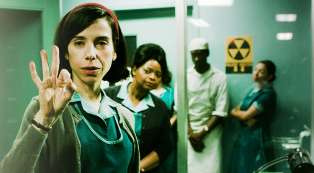 Flight of fantasy: Sally Hawkins in The Shape of Water