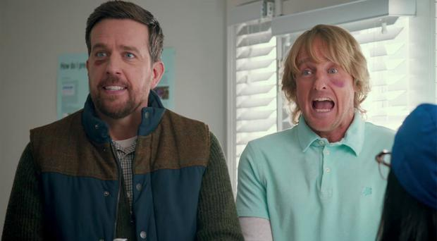 Growing pains: Ed Helms (left) and Owen Wilson in Father Figures