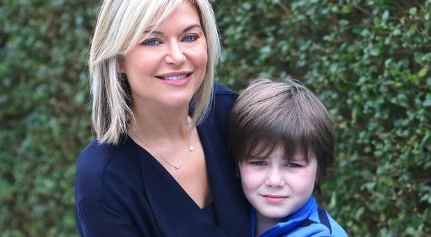 Tina Wallace with her son Paddy Jack