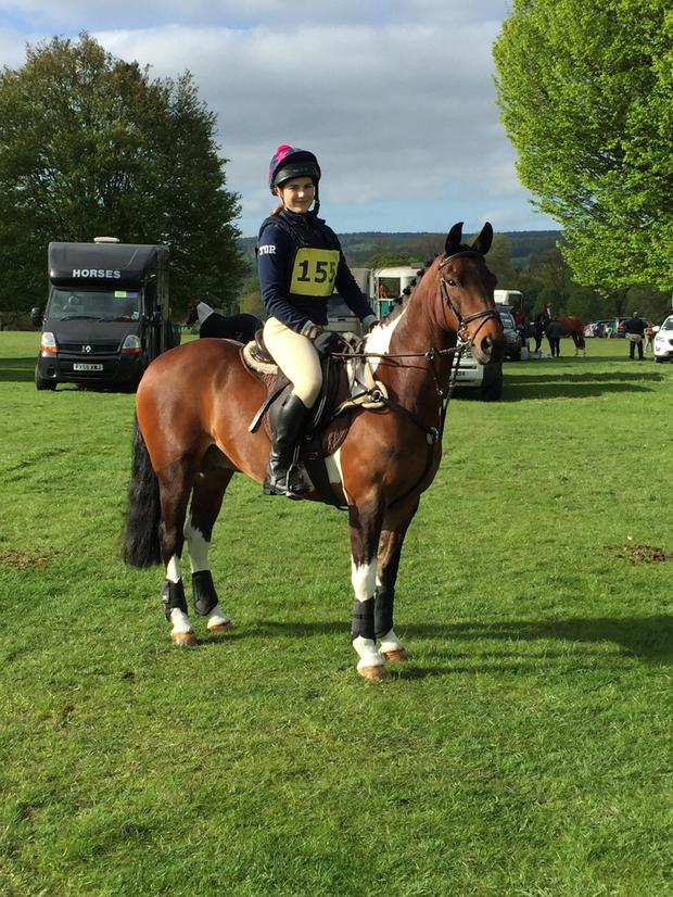 Bright star: Tara competing at a horseriding event